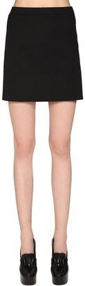 Givenchy Wool Drill Mini Skirt