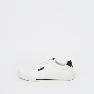 River Island Mens White Prolific lace up trainers