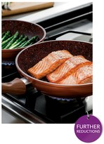 JML Set Of 3 Copper Stone Pans