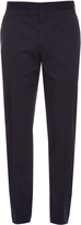 Lanvin Slim-leg cotton chino trousers