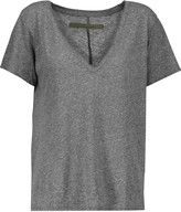 Enza Costa Marled stretch-jersey T-shirt