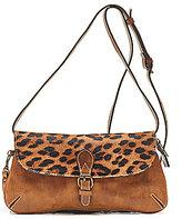 Patricia Nash Baku Leopard Haircalf Cross-Body Bag