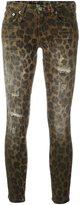 R 13 leopard print skinny jeans - women - Cotton/Spandex/Elastane - 25