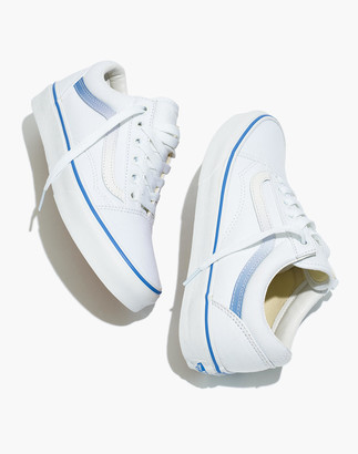 Madewell x Vans Unisex Old Skool Lace-Up Sneakers in Ombre Stripe Canvas