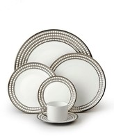 L'OBJET Perlee Porcelain and Platinum Dinner Plate