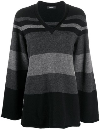 Undercover Striped V-Neck Jumper