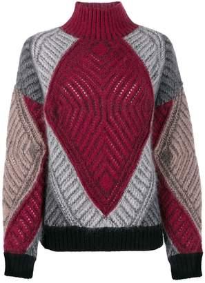 Alberta Ferretti oversized colour-block jumper