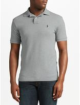 Polo Ralph Lauren Short Sleeve Polo Shirt, Andover Heather