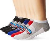 Junk Food Clothing Men's 6 Pack No Show Socks Die