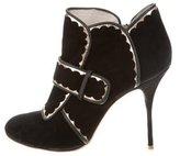Sophia Webster Metallic-Trimmed Ankle Boots