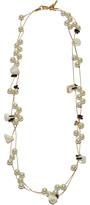 Lele Sadoughi Stripped Shell Necklace