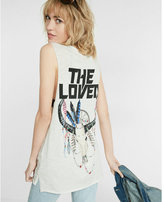 Express one eleven animal skull crew neck muscle tank