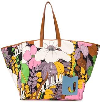 La DoubleJ Big Mama floral print tote bag