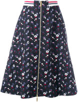 Thom Browne zipped a-line skirt - women - Silk/Cotton/Wool - 42