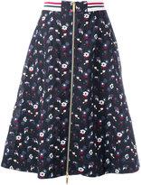 Thom Browne zipped a-line skirt - women - Silk/Cotton/Wool - 44
