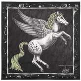 Aspinal of London Pegasus Feather Silk Twill Scarf