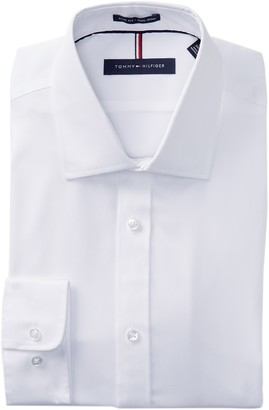 Tommy Hilfiger Non-Iron Slim Fit Solid Dress Shirt