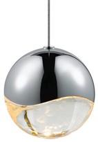 "clear Grapesa 1-Light LED Single Globe Pendant Sonneman Finish: Polished Chrome, Shade Color: Clear, Size: 4"" H x 4"" W x 4"" D"
