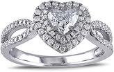 MODERN BRIDE 1 CT. T.W. Diamond 14K White Gold Openwork Heart Ring