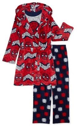 Spiderman Boys 2-Piece Pajama Set with Robe, Sizes 4-10