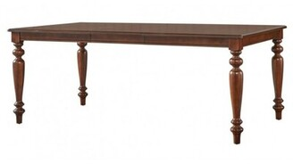 Charlton Home Maire Turned Legged Extendable Solid Wood Dining Table Charlton Home
