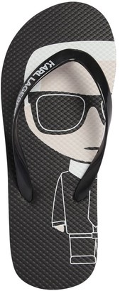 Karl Lagerfeld Paris Rubber Flip Flops