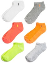 Ralph Lauren Blue Label Polo by Low Cut Ankle Socks, Set of 6
