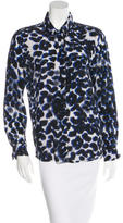Sandro Silk Abstract Print Top