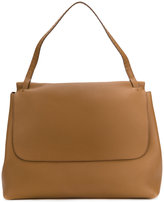 The Row flap top tote - women - Leather - One Size