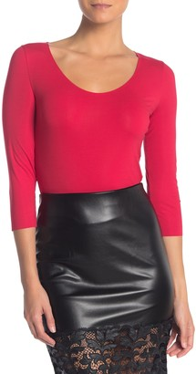 Wolford 3/4 Length Sleeve Solid Bodysuit