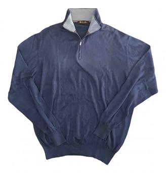Loro Piana Blue Cotton Knitwear & Sweatshirts