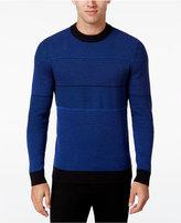 Alfani Men's Contrast Multi-Stitch Knit Sweater, Regular Fit, Only at Macy's
