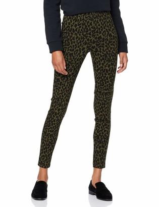 Dorothy Perkins Women's Khaki Animal Skinny Trousers