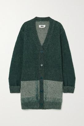 MM6 MAISON MARGIELA Melange Cotton-blend Cardigan - Gray