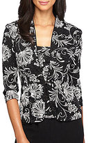 Alex Evenings Floral-Print Embellished Twinset