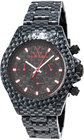 toywatch imprint carbon fiberplasteramic chronograph watch black