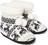 Hot Kiss White & Black Olive Slipper