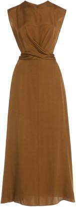 Vince Twist-Accent Silk-Blend Dress