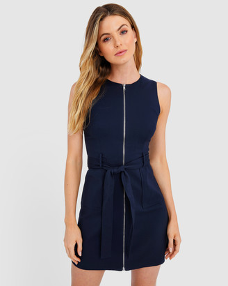 Forcast Anika Tie-Waist Sleeveless Dress