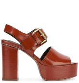 See by Chloe platform buckle sandals - women - Leather/Nappa Leather - 37