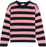 Chinti and Parker Striped Cashmere Sweater - Baby pink