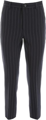 Ganni Pinstripe Suiting Slim Pants
