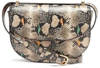 A.P.C. Geneve Snake-effect Leather Cross-body Bag - Python