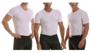 Instaslim Men's Big & Tall Insta Slim 3 Pack Compression Short Sleeve Crew-Neck T-Shirts