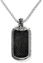 Effy Gento by Men's Black Sapphire ID Tag Pendant (1-3/4 ct. t.w.) in Sterling Silver
