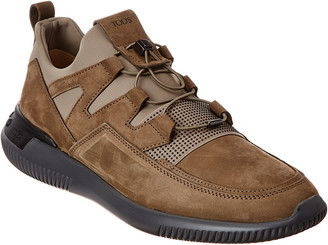 Tod's Paneled Suede Sneaker