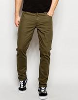Asos Skinny Jeans In Khaki