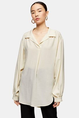 Topshop Womens **Peasant Blouse By Boutique - Ivory