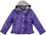 YMI Jeanswear Purple Faux Leather Jacket - Toddler & Girls