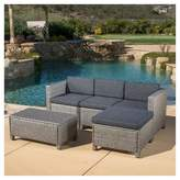 Christopher Knight Home Puerta 5pc Wicker Sectional Sofa Set with Cushions